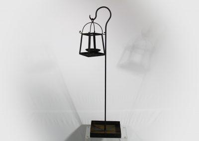 Centro de mesa farol café 90 cm alto