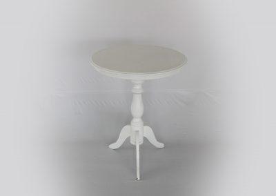 Mesa redonda vintage auxiliar 60 x 74 cm alto