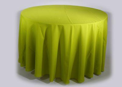 Mantel redondo verde limon