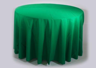 Mantel redondo verde navidad