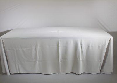 Mantel faldon blanco lino