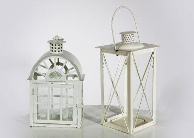Farol blanco con vidrio y manija (unidad)