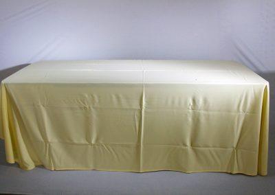 Mantel faldon beige lino