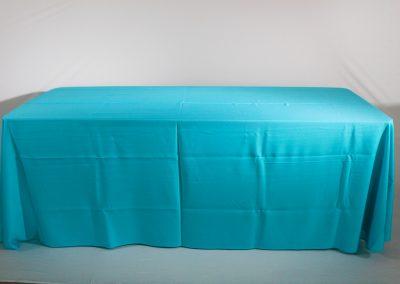 Mantel faldon azul menta
