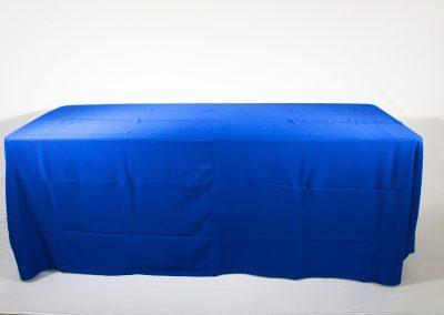 Mantel faldon azul rey