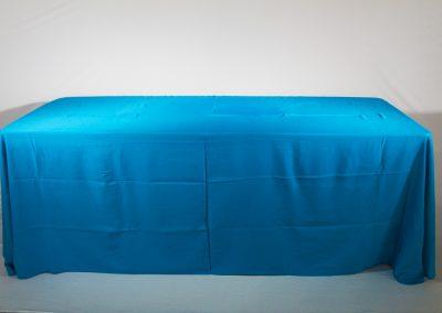 Mantel faldon azul turquesa