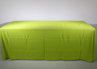 Mantel faldon verde limon