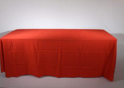 Mantel faldon rojo