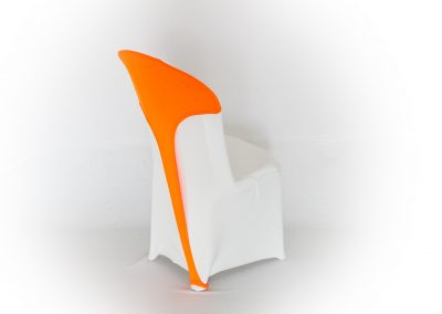 Top cruzado spandex naranja neón