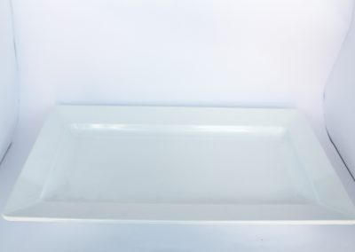 Bandeja melanina blanca - 56 x 32 cm