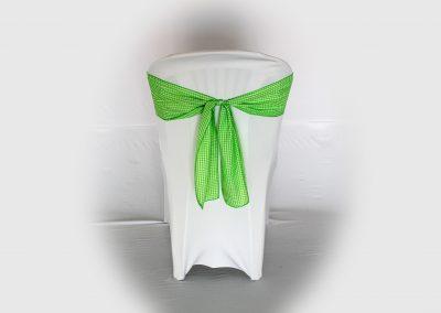 Lazo cuadritos verde blanco