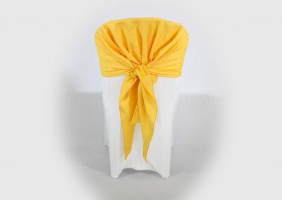 Pañoleta amarilla quemada