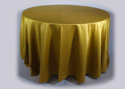 Mantel redondo dorado chantu