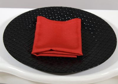 Servilleta tela roja