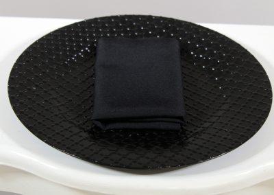 Servilleta tela negra