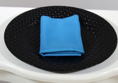 Servilleta tela azul turquesa