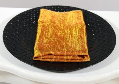 Servilleta tela naranja tafetan