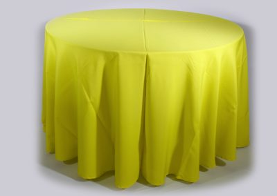 Mantel redondo amarillo biche