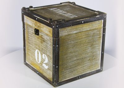 Baúl madera gris atelier mini