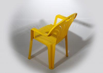 Sila plastica niños amarilla