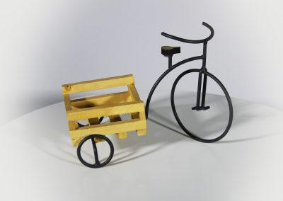 Bicicleta decorativa mini con caja madera