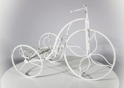 Bicicleta blanca mini decorativa