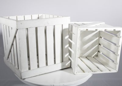 Caja madera blanca 32 x 32 cm ó  38 x 38 cm