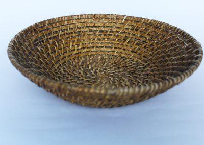 Bandeja de ratan redonda honda 30cm
