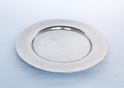 Plato de sitio electroplata redondo30 cm