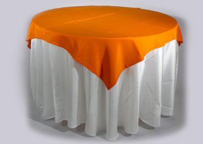 Tapa sencilla cuadrada naranja 150 x 150 cm