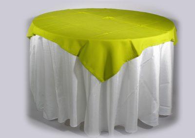 Tapa sencilla cuadrada verde limón 150 x 150 cm