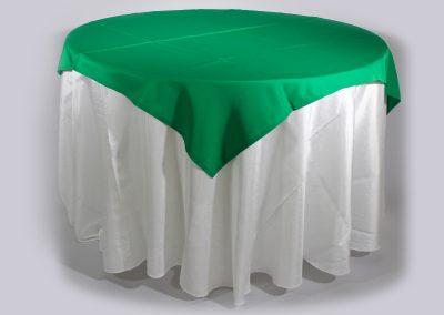 Tapa sencilla cuadrada verde navideño 150 x 150 cm