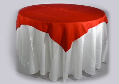 Tapa sencilla cuadrada roja 150 x 150 cm