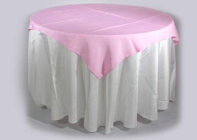 Tapa sencilla cuadrada rosado 150 x 150 cm