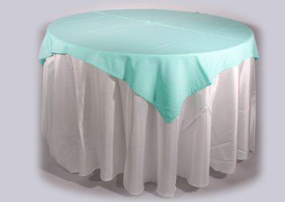 Tapa sencilla cuadrada verde menta 150 x 150 cm