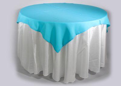 Tapa sencilla cuadrada azul menta 150 x 150 cm