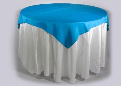 Tapa sencilla cuadrada azul turquesa 150 x 150 cm