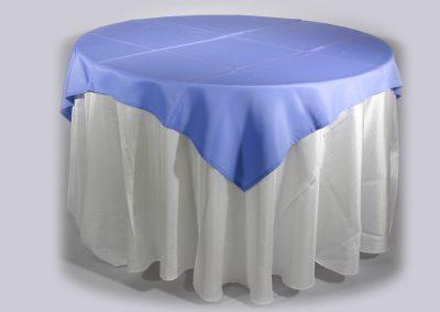 Tapa sencilla cuadrada azul violeta 150 x 150 cm