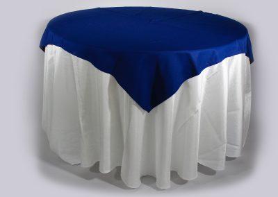 Tapa sencilla cuadrada azul oscura 150 x 150 cm