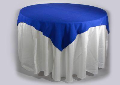Tapa sencilla cuadrada azul rey 150 x 150 cm