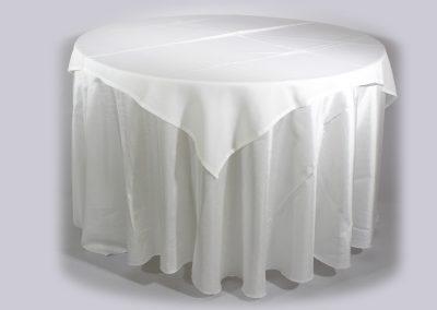 Tapa sencilla cuadrada blanca 150 cm x 150 cm