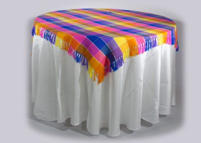 Tapa cuadrada telar mexicana 160 cm x 160