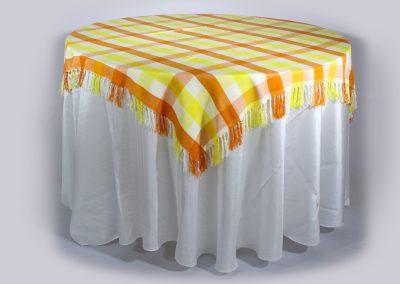 Tapa cuadrada telar hawaiana amarillo naranja 160 cm x 160