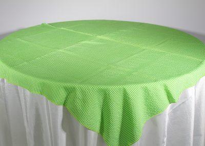 Tapa galleta cuadros verdes 150 cm x 150 cm