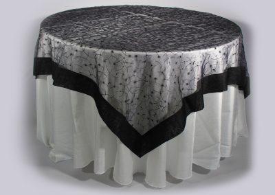 Tapa organza cuadrada negra 200 x 200 cm