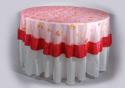 Tapa organza redonda rosada sombreros 220 cm diametro