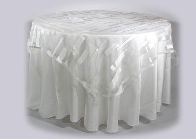 Tapa organza cuadrada claire marfil 200 x 200 cm