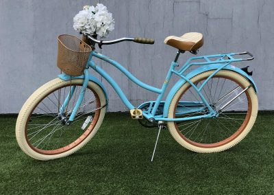Bicicleta Vintage azul celeste