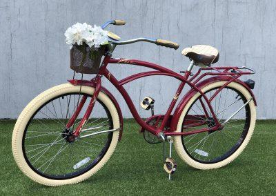 Bicicleta Vintage vino tinto