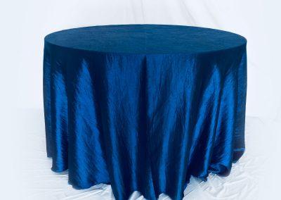 Mantel Redondo tafetan corrugado azul noche